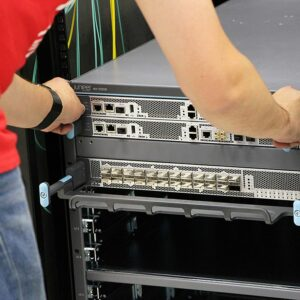 Male replacing Juniper routers